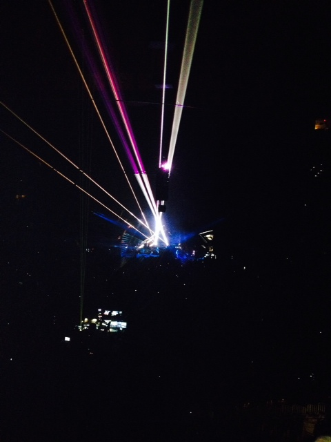 Super cool lasers from Kings of Leon's concert at the Wells Fargo Center February 19th.