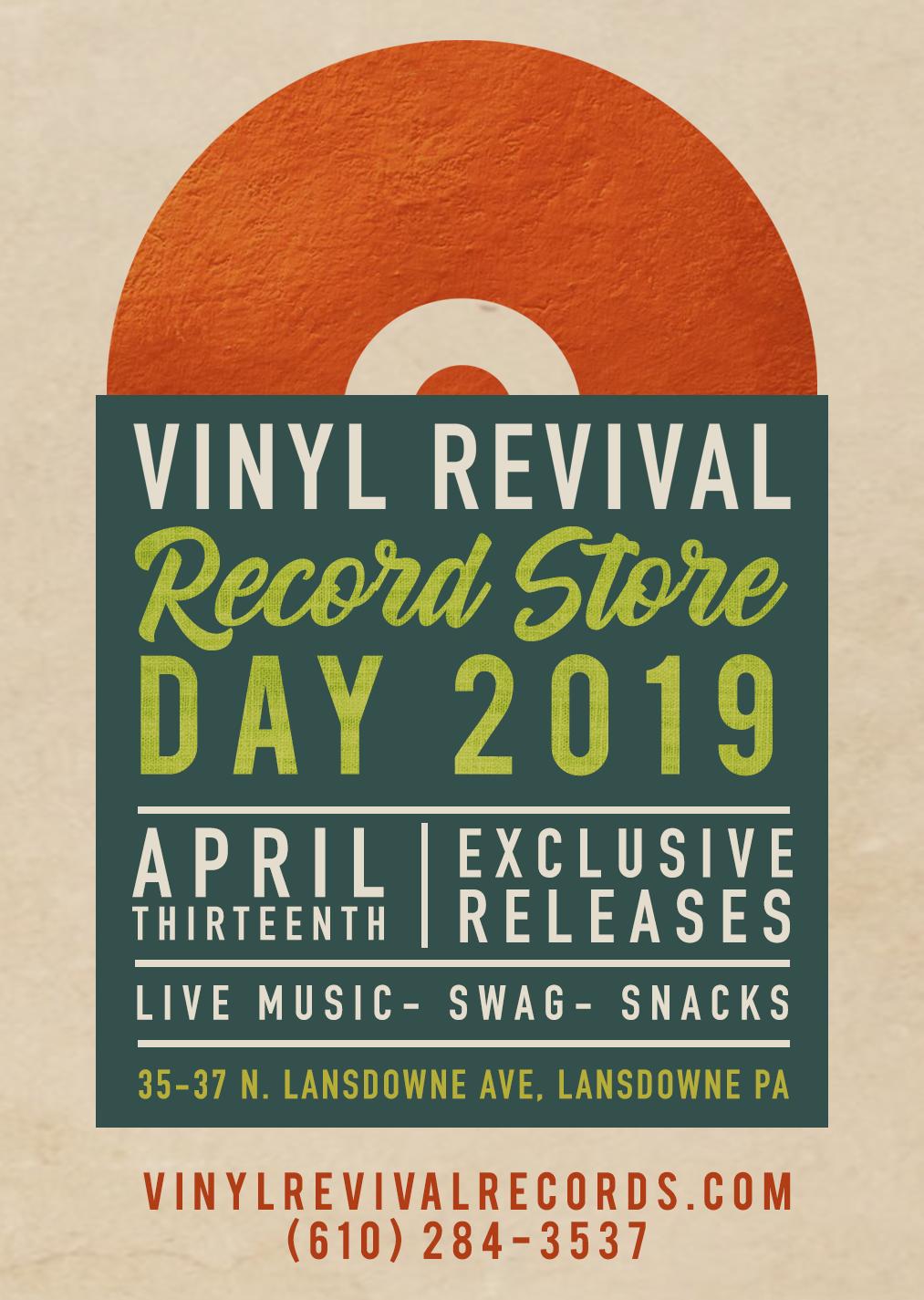 26c788ed5 Record Store Day 2019 – April 13th